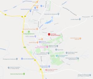 Karte Anfahrt zur Praxis Schacherer Kinesiologie Bad Dürrheim